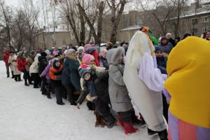 Празднование Масленицы в Ленинском районе.